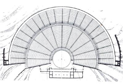 Κάτοψη του θεάτρου της Επιδαύρου