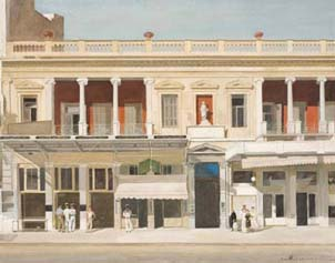Τμήμα από πίνακα του ζωγράφου και σκηνογράφου Γιάννη Τσαρούχη