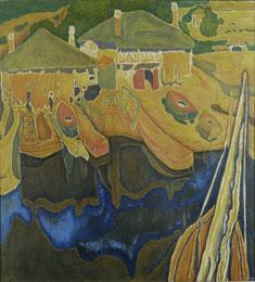 """Σ. Παπαλουκάς """"Αρσανάς στο Άγιον Όρος"""", 1935"""