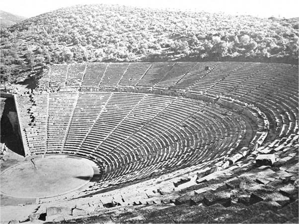 Το αρχαίο θέατρο της Επιδαύρου από ψηλά