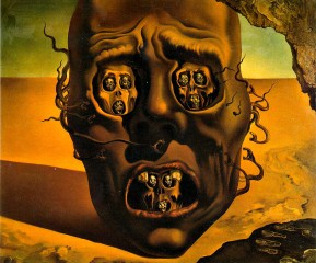 the visage of the war dali