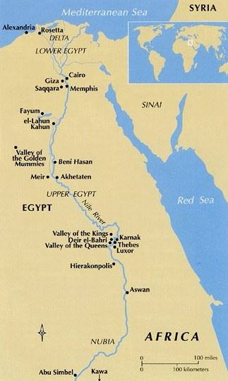χάρτης Αιγύπτου