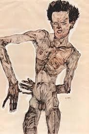 Έγκον Σίλε γυμνή αυτοπροσωπογραφία