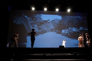 Φωτογραφία από το σεμινάριο σκηνοθεσίας