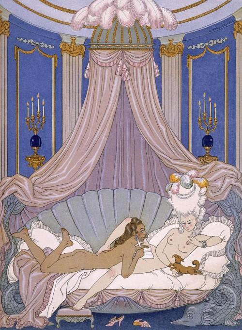 Οι Επικίνδυνες Σχέσεις - σχέδιο του Georges Barbier