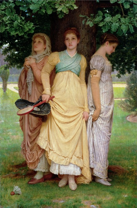 A summer shower by Charles Edward Perugini.