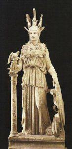 Φειδίας- Αντίγραφο του χρυσελεφάντινου αγάλματος της Αθηνάς.