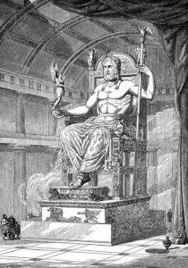 Φειδίας- Χρυσελεφάντινο άγαλμα του Δία στην Ολυμπία.
