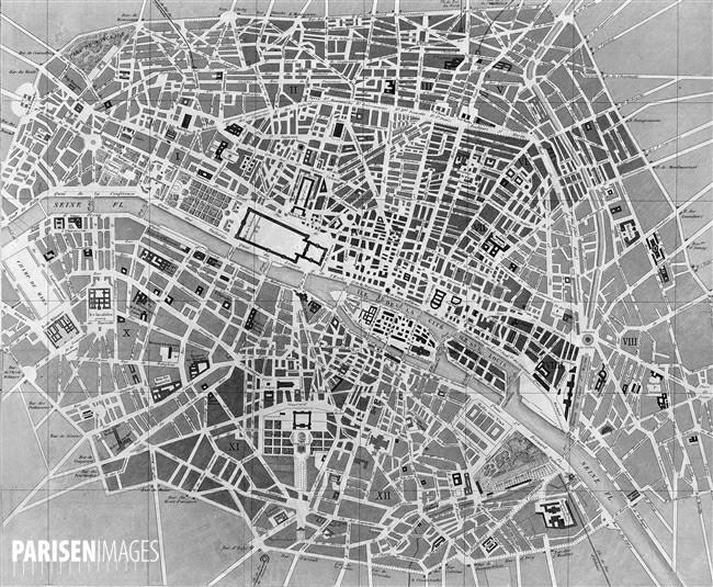 Ο Πύργος του Eiffel στο Παρίσι του 19ου αιώνα - Χάρτης του 1855 (images by parisenimages.fr)