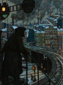 Hans Baluschek, εργατούπολη, 1920, Ο χειμώνας ως έργο τέχνης