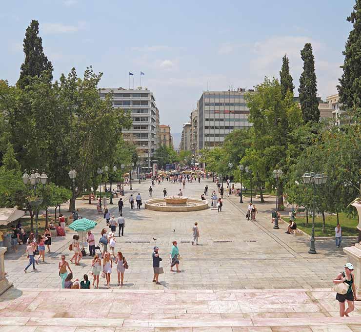 Η πλατεία Συντάγματος σήμερα