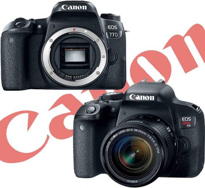 Οι νέες φωτογραφικές μηχανές της Canon: EOS 77D & Rebel T7i