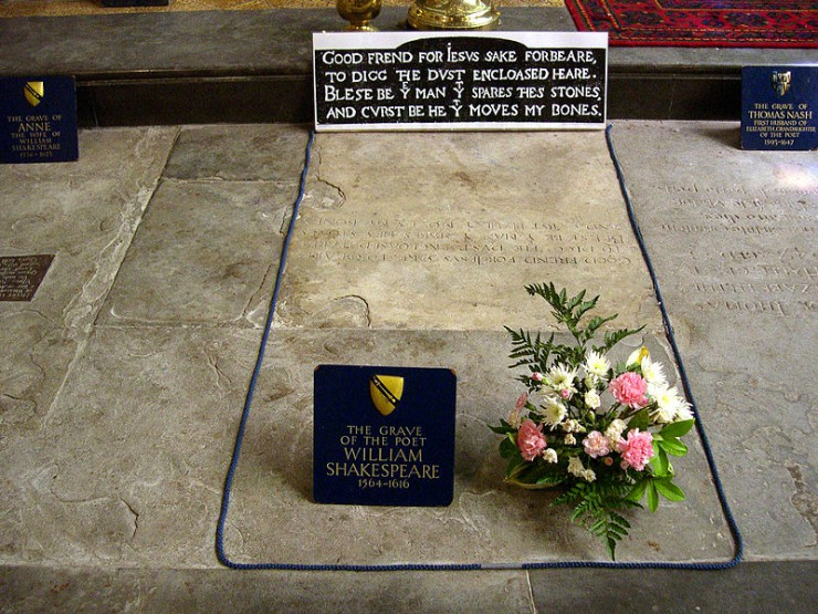 Ουίλιαμ Σαίξπηρ , ο τάφος του στο Στράτφορντ-απόν-Έιβον