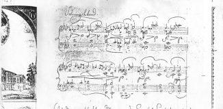 Το χειρόγραφο της Ελεγείας για πιάνο, του Ρίχαρντ Βάγκνερ.