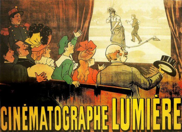 Πόστερ από την προβολή της ταινίας Ο ποτιστής ποτίζεται, 1896