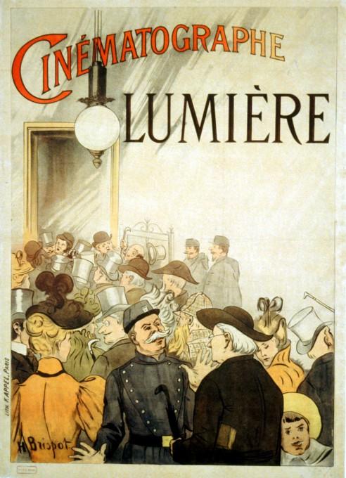 Διαφημιστικό poster για τις πρώτες προβολές των ταινιών των αδερφών Λιμιέρ