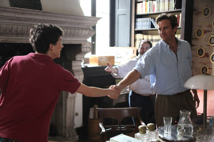 Call me by your name, στιγμιότυπο της ταινίας με τους δύο πρωταγωνιστές