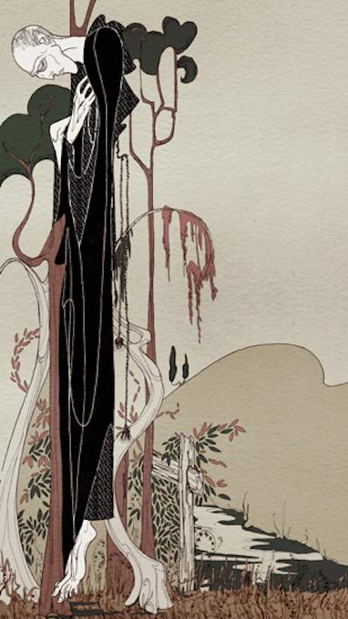 Σκίτσο του Μαύρου Μοναχού της Kate Baylay