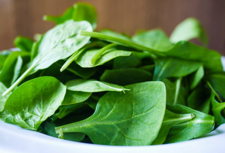 πράσινα φυλλώδη λαχανικά, σπανάκι
