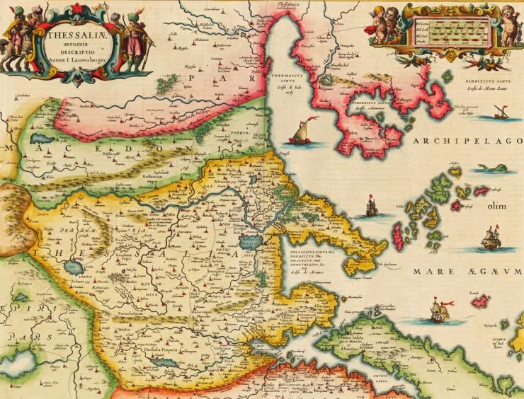Μεσαιωνικός χάρτης Θεσσαλίας