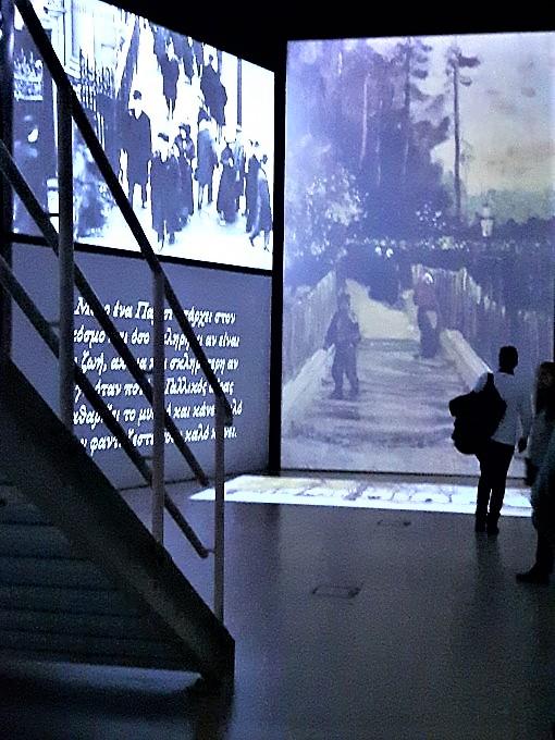 Μέρος της έκθεσης Van Gogh Alive στο Μέγαρο μουσικής Αθηνών