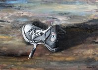 Έκθεση ζωγραφικής «Φύσις κοιμωμένη» από την Λένα Καφαντάρη | στην γκαλερί του Black Duck